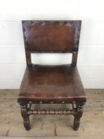 Set of Six Oak & Leather Dining Chairs (8 of 23)
