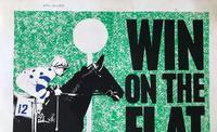 Original lithographic poster 'Win on the flat' by Frank Lynton Giles for the Sheffield Telegraph c.1965 (3 of 3)