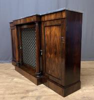 Beautiful Regency Rosewood 3 Door Breakfront Cabinet (10 of 11)