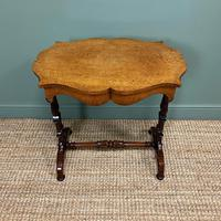 Spectacular Victorian Birds Eye Maple Occasional Table