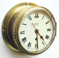 Superb Antique English Smiths Bulkhead Wall Clock 8 Day Ships Clock (5 of 11)
