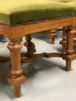 Set of 6 satinwood modular stools in vintage velvet (5 of 8)