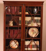 Georgian Glassed Bookcase in Mahogany & Inlays - 18th Century English (4 of 14)