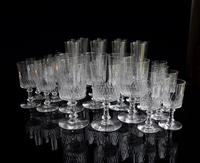 Baccarat Crystal 29 piece Cylindrique suite Richelieu pattern c1916 (4 of 5)