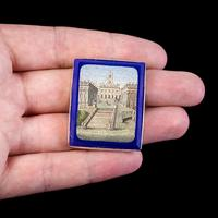 Antique Victorian Micro Mosaic Brooch 18ct Gold c.1860 Boxed (3 of 8)
