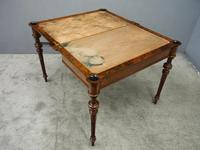 Victorian Inlaid Burr Walnut Games Table (8 of 9)