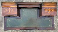 Maple & Co - Stunning Edwardian Marquetry Rosewood Library Writing Table Desk (5 of 15)