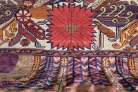 Large Mid 20th Century Colourful Flat Weave Woolen Rug (14 of 15)