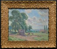 William Francis Burchell Exhibited Impressionist Oil Painting