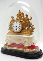 Stunning Complete French Mantel Clock Under Dome with Base Figural Mantle Clock. (7 of 10)