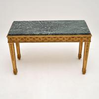 French Giltwood Marble Top Coffee Table c.1930 (2 of 8)
