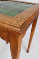 Edwardian Arts & Crafts Oak Tile Top Side Table (9 of 13)