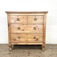 Small Victorian Pine Chest of Drawers (2 of 10)