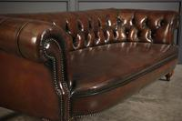 Victorian Hand Dyed Buttoned Leather Chesterfield Sofa (6 of 14)