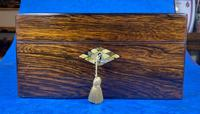 Victorian Rosewood Jewellery Box with Mother of Pearl & Abalone Escutcheons (4 of 14)