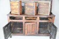 Antique Rustic English Country Kitchen Georgian Oak Dresser (8 of 12)