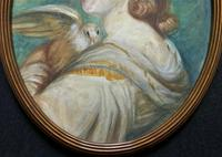 Mrs Mary Desbitt with Dove, After Sir Joshua Reynolds - Portrait Watercolour (4 of 9)