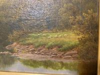 Antique Oil on Canvas of a Countryside Scene (6 of 9)