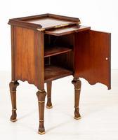 Walnut Queen Anne Style Bedside Cabinet c.1920 (12 of 14)