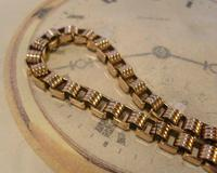 Antique Pocket Watch Chain 1890s Victorian 10ct Rose Gold Filled Albert With Key T Bar (5 of 12)