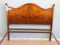 Antique Figured Walnut Double Bed. (11 of 17)