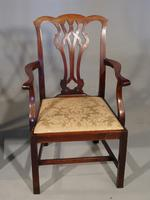 Good Early 20th Century Set of 8 '7+1'  Chippendale Design Mahogany Chairs (3 of 6)