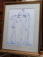 Watercolour Clowns Listed Irish Artist Judith Caulfield Walsh (3 of 10)