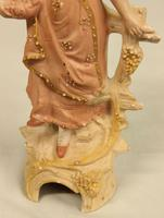 Pair of Bisque Figurines of Young Girl & Boy. (6 of 9)