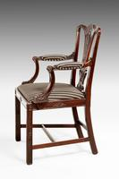 Chippendale Style Mahogany Elbow Chair (3 of 5)