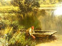 'The Avon' Ringwood, Hampshire by Henry H. Parker (Circa 1900) (6 of 6)