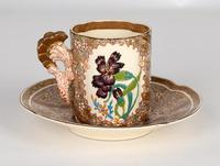 Zsolnay Pecs Hungarian Hand Painted Floral Cabinet Cup & Saucer c.1890 (16 of 16)