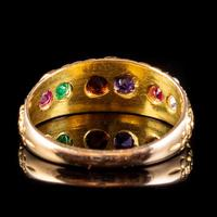 Antique Victorian Regard Gemstone Ring 18ct Gold Dated 1880 (6 of 7)