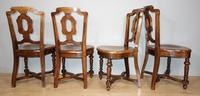 Set of Four Light Mahogany Victorian Hall Chairs (4 of 6)