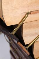 Tall & Slim Antique Edwardian Mahogany Music Cabinet (6 of 13)
