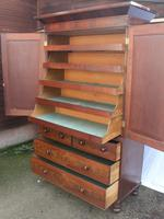 1880's Handsome Mahogany Linen Press with Slides (2 of 5)
