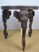 Anglo Indian Carved Elephant Table Early 20th Century (10 of 11)