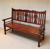 Edwardian Style Mahogany Bench (10 of 11)