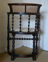 Barley Twist Oak Corner Chair (3 of 7)