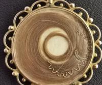 Antique Mourning Locket, Hairwork Pendant, 9ct Gold (9 of 10)