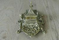 Fine William Tonks & Sons Marine Brass Inkwell c.1885 (4 of 7)