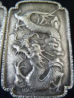 Fine Chinese Silver Buckle # 3 - Dragons , Signed TC (5 of 5)