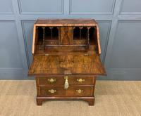 George I Style Burr Walnut Bureau (8 of 18)