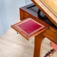 Victorian Leather Top Work Table (3 of 12)