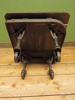 Small Industrial Antique Vono Cart Trolley Coffee Table with Bakelite Castors (14 of 17)