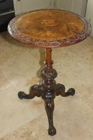 Antique 19th Century Mahogany & Burr Maple Marquetry Veneer Side Table (12 of 14)