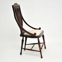 Antique Edwardian Inlaid Mahogany Side Chair (4 of 9)