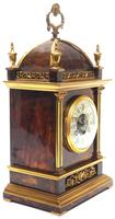 Incredible French Shell Mantel Clock French Cubed 8-day Miniature Bracket Clock (7 of 11)