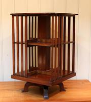 Edwardian Small Proportioned Low Mahogany Revolving Bookcase (2 of 10)