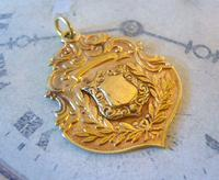 Antique Pocket Watch Chain Fob 1890s Victorian 18ct Gold Filled Large Shield Fob (2 of 6)