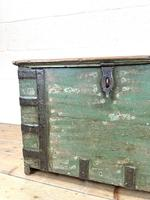 Distressed Painted Metal Bound Trunk (5 of 10)